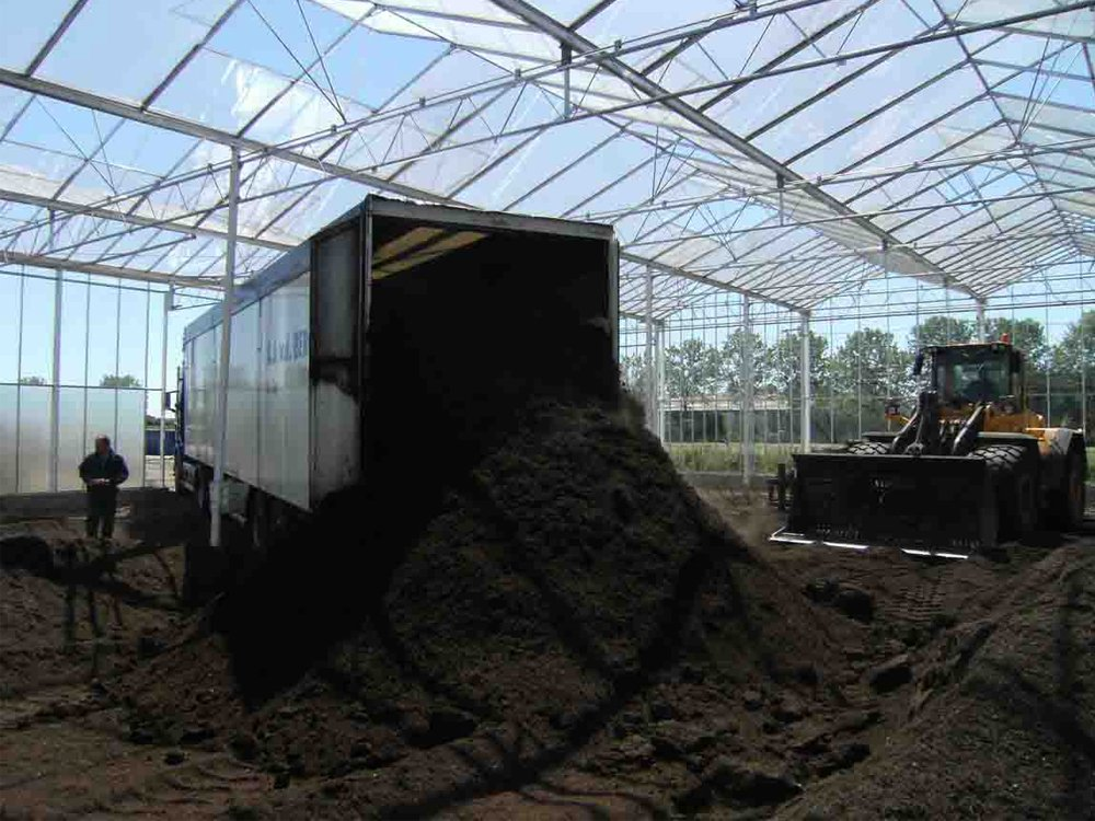 Unloading Compost